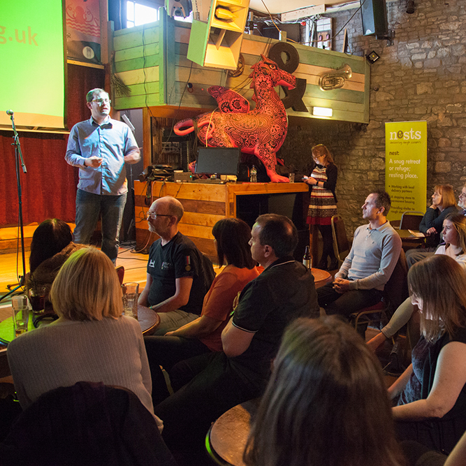 Launch night - Nests: shelters for rough sleepers