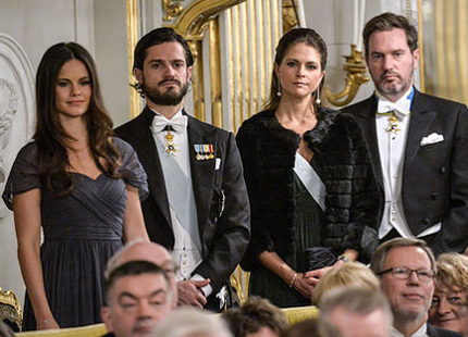 Swedish Royals step out for Swedish Academy formal