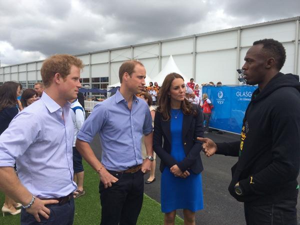 Usain Bolt meets Kate Middleton