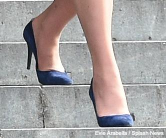 McQueen blue suede shoes