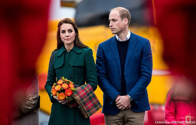 Kate Middletons maple leaf tartan scarf