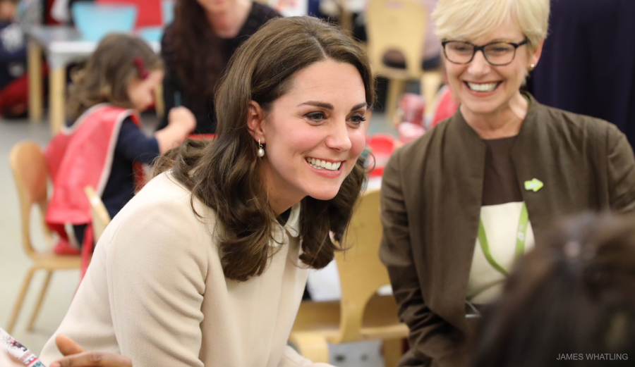 Kate Middleton visiting Hornsey Road Children's Centre in London