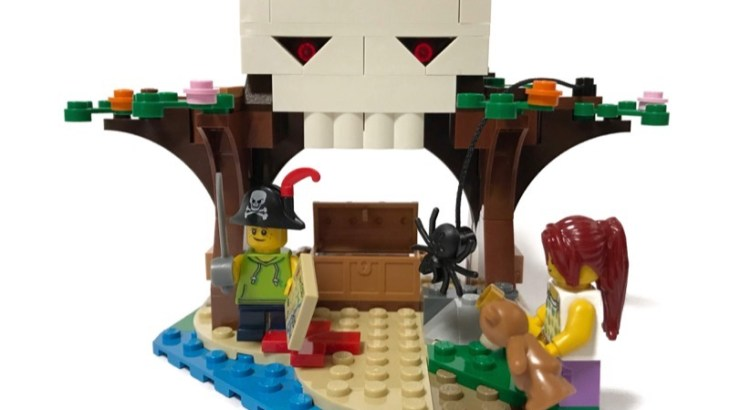 LEGOの『Creator 3in1 Treehouse Treasures(31078)』のドクロを作ってみました!