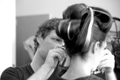 Bean Downes in make up with David Brown