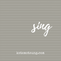 five minute friday :: sing