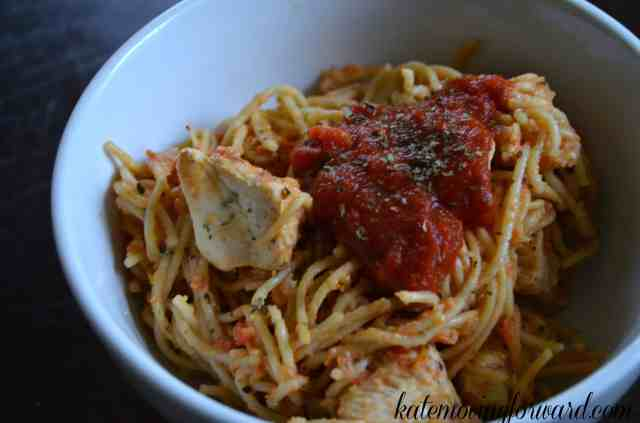 Healthy dinner recipe Lemon pepper chicken pasta