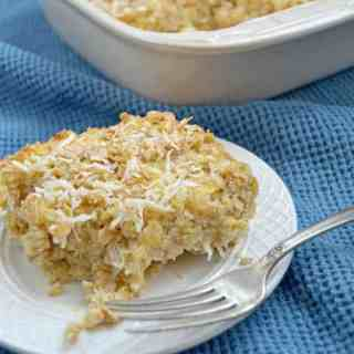 Pineapple and Coconut Baked Oatmeal