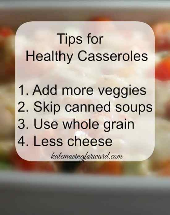 Tips for making healthy casseroles