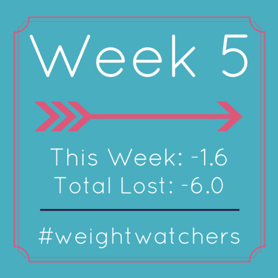 Weight Watchers Week 5