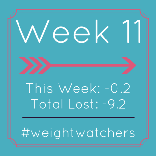 Weight Watchers Week 11