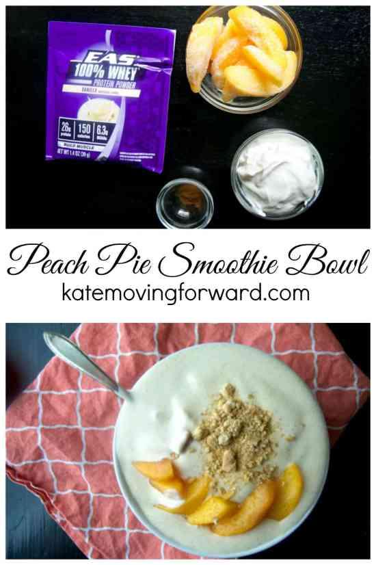 EAS Peach Pie Smoothie Bowl