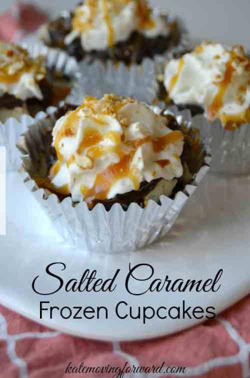 Salted Caramel Frozen Cupcakes