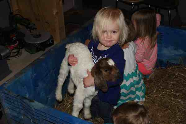 Layla with baby goat