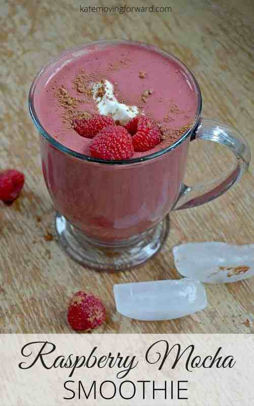 Raspberry Mocha Smoothie - Get your happy on with this delicious and healthy smoothie! Packed with antioxidants, energy and protein! Utterly delish!