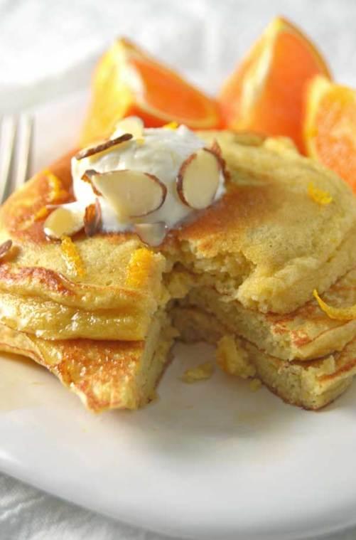 Orange-pancakes-closeup