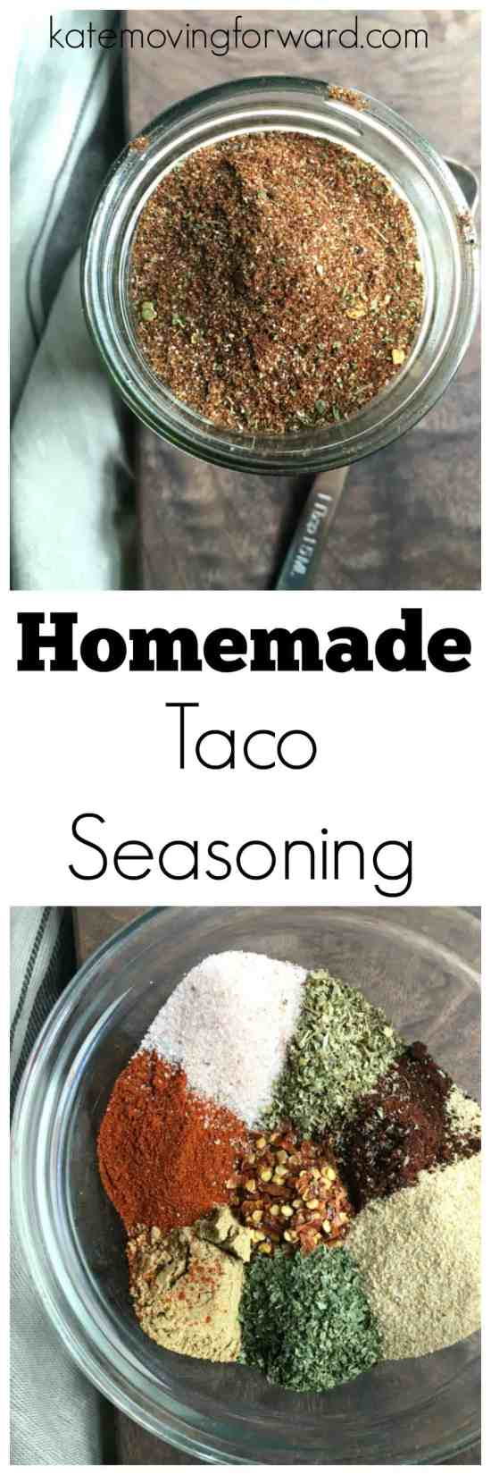 Homemade Taco Seasoning - Make your own DIY taco spice mix for tacos, enchiladas, taco salads, quesadillas and more! Super simple, filling, and tasty with no weird ingredients or excessive sodium!