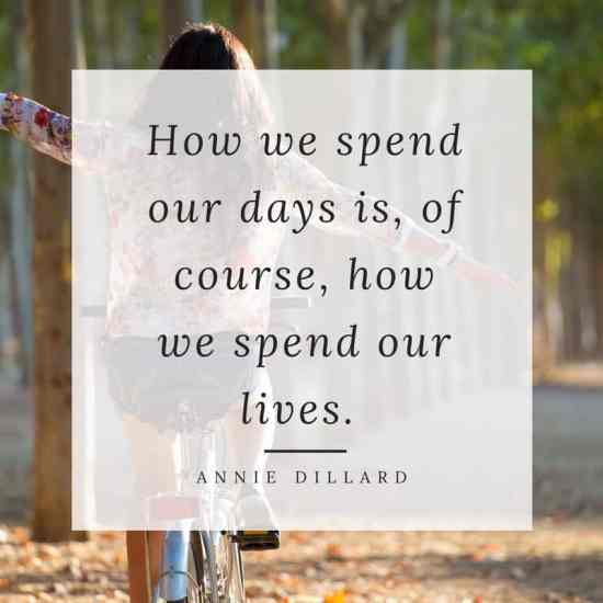 how-we-spend-our-days-is-of-course-how-we-spend-our-lives