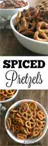 These Spiced Pretzels = Addictively Easy Snacking! Such a quick and easy snack with just 4 ingredients!