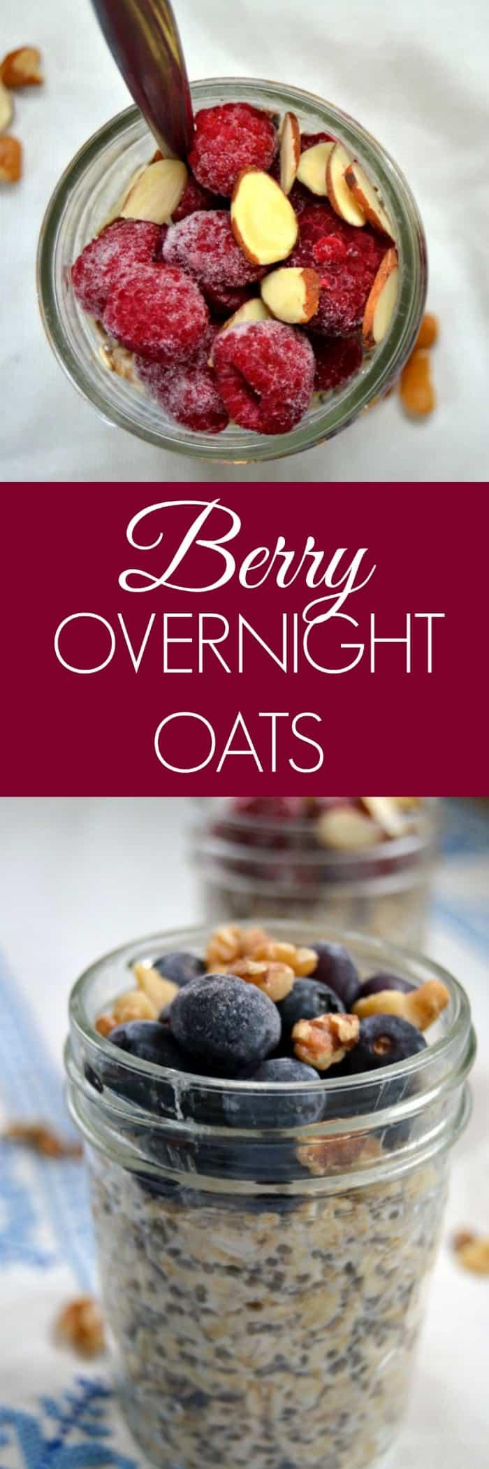 Berry Overnight Oats - Overnight Oats recipe - Overnight Oats Healthy - Overnight Oats with berries