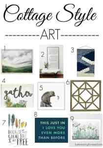 Cottage Style Art - Cottage Style - Farmhouse Style - Farmhouse Art