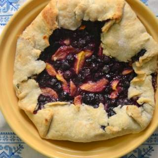 Peach Blueberry Rustic Tart