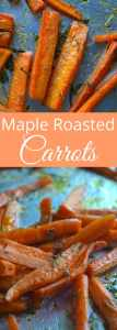 Maple Roasted Carrots - An easy and surprisingly healthy Thanksgiving Day side recipe! Super quick!