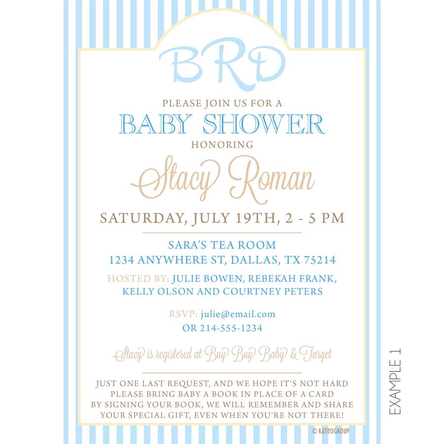 Monogram Baby Shower Invitations