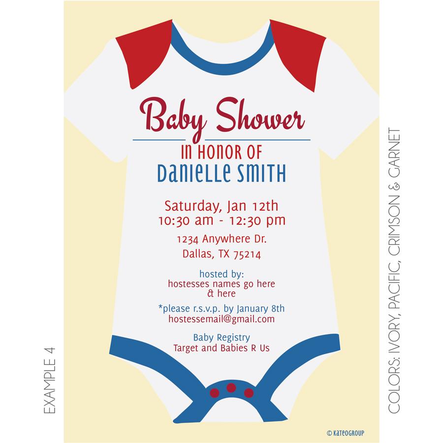 Onesie Baby Shower Invitation | KateOGroup
