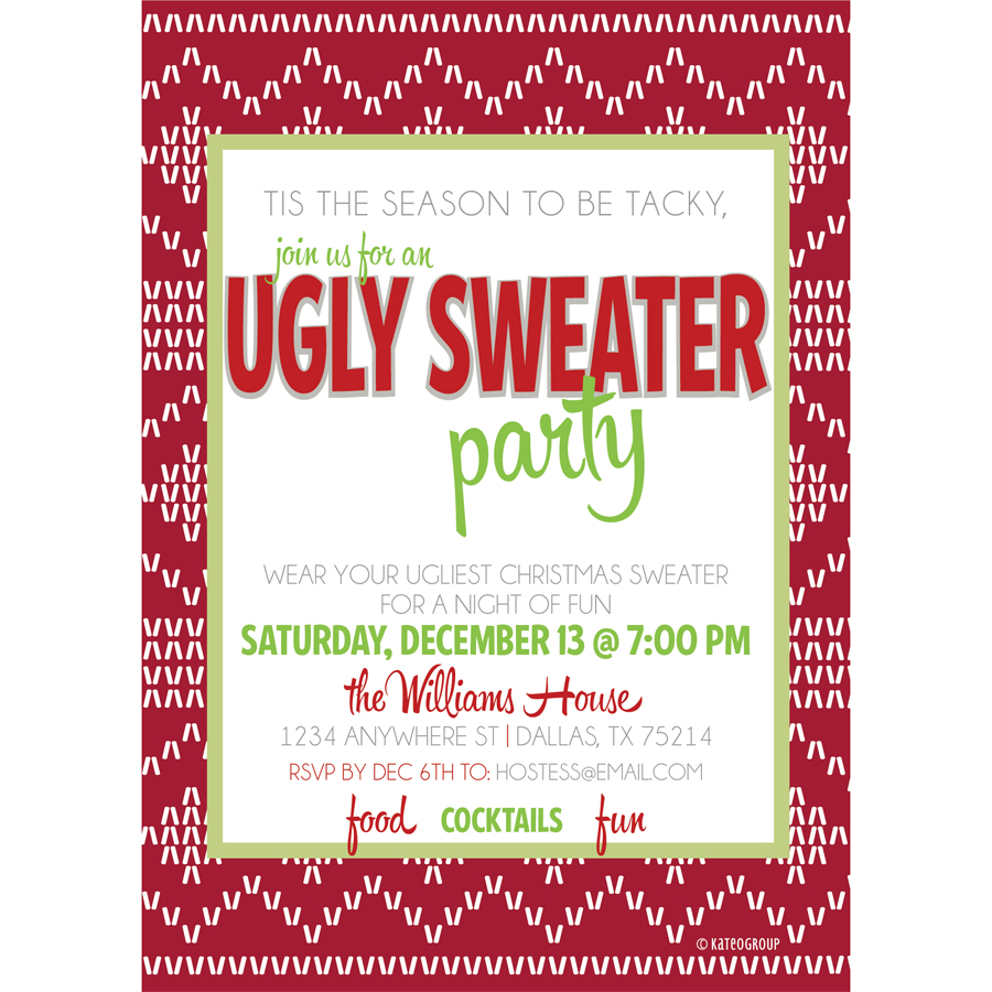 Email Wedding Invitations Tacky What Are The General Rules For – Ugly Sweater Christmas Party Invitations Wording