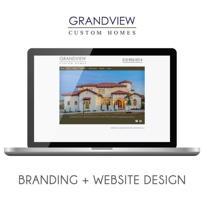 Grandview Custom Homes | Branding + Web Design