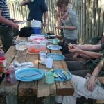eating from the organic table we built