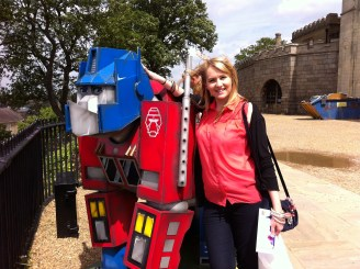 With my favourite Go Go Gorilla - Optimus Primate
