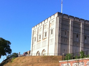 Spot Optimus Primate... proudly outside Norwich Castle