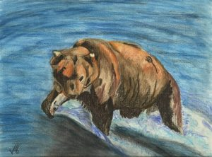 Wildlife art by Kate-on-Conservation