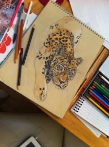 Leopard art by Kate