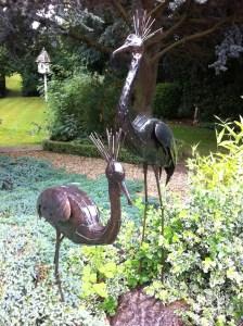 Animal sculptures and garden at Pollyanna's