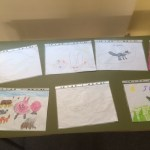 Entries to the children's art competition, held as part of my exhibition
