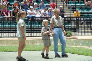 Steve Irwin's family - Bindi, Terri and Bob
