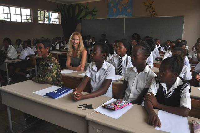 Anneka in the classroom