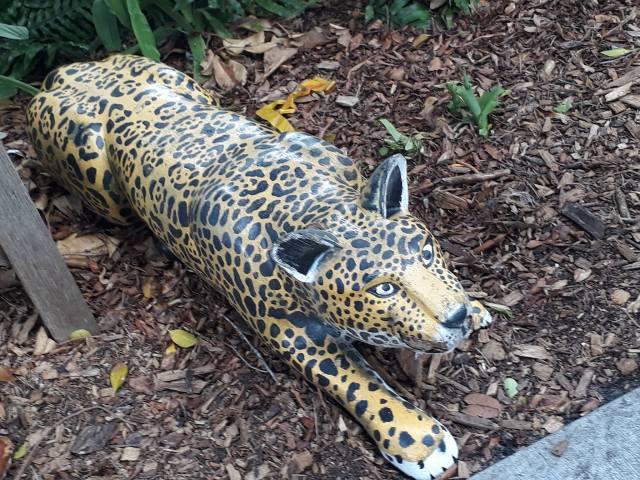 wooden jaguar