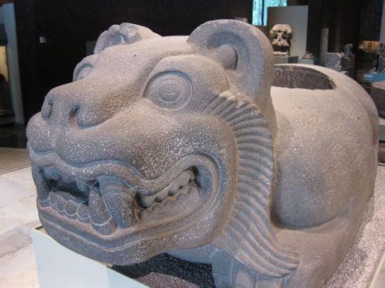jaguar temple statue