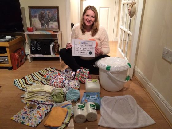 No Waste November pledge by Kate on Conservation - to use reusable cloth nappies