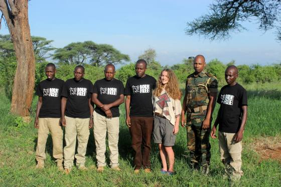 Tania with Victor and Born Free team after filming A Lion's Tale