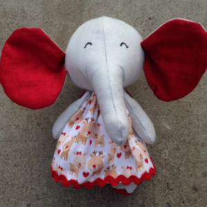 consewvation-elephant-design-reindeer-dress-red-ears