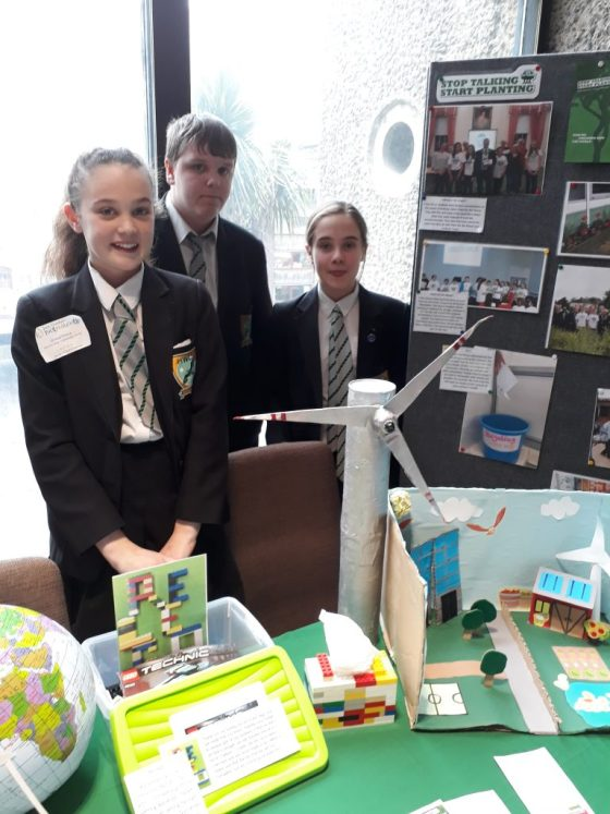 Harrow Way Community School with their display at Roots and Shoots 2018