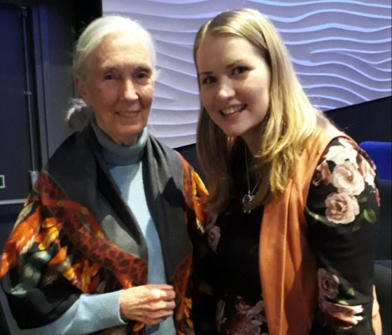 Kate on Conservation with Jane Goodall