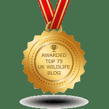 UK Top 75 Wildlife Blog awards