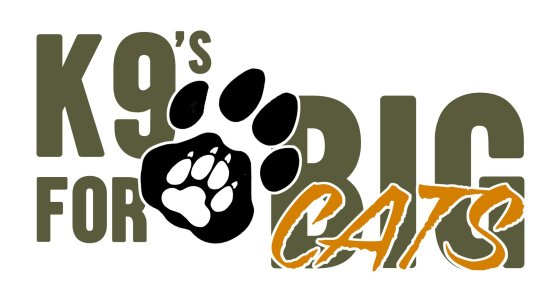 captured in africa and k9 for conservation logo