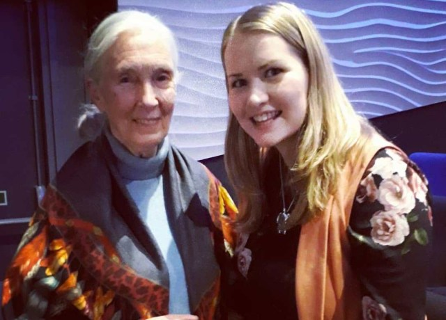 Kate on Conservation and Dr Jane Goodall at Roots and Shoots awards