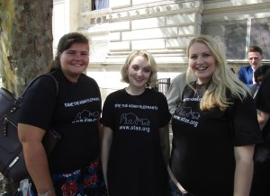 Annabel Lever, Evanna Lynch and Kate on Conservation support STAE